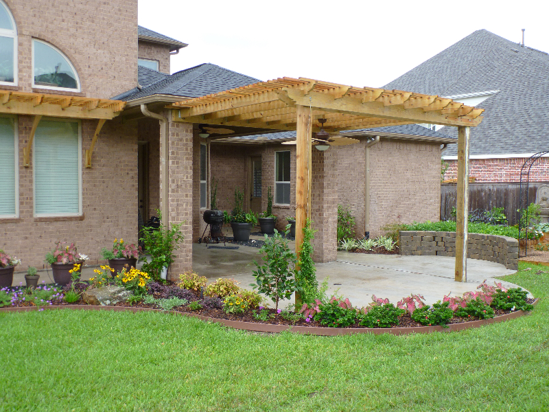Backyard Landscape Design Houston